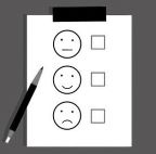 survey form with faces