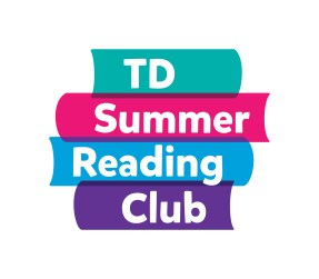 Stack of books with TD Summer Reading Club on spines
